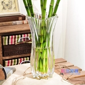 花瓶 擺件客廳插花簡約居家用大號插百合富貴竹水培干花透明玻璃瓶【快速出貨】
