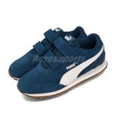 Puma 休閒鞋 ST Runner v2 SD V PS 藍 白 童鞋 中童鞋 運動鞋 魔鬼氈 【PUMP306】 36600105