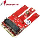 Awesome PCIe & USB M.2 Wireless模組轉mPCIe轉接卡-AWD-DT-134E