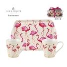 英國Pimpernel 小動物樂園設計款-兩杯一盤禮盒組-紅鶴-綁原廠緞帶