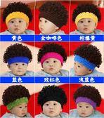 男女童保暖毛帽兒童針織帽春秋胎帽0-3-6-12個月新生嬰兒帽子男女寶寶假發帽冬潮