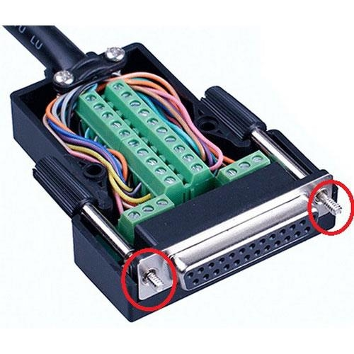 DB25P 母免焊式DIY接頭組合包 (長螺絲)