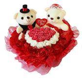 婚車 裝飾花 結婚用品車頭公仔 主副婚車小熊壓床娃娃情侶婚紗熊 春生雜貨
