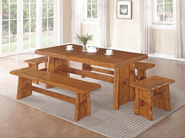 【森可家居】卡拉2尺全實木板椅凳 7SB342-5 雲杉實木 木紋質感
