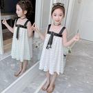 吊帶裙 女童洋裝夏裝新款超洋氣小女孩公主裙中大童無袖吊帶雪紡裙