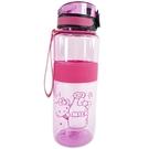 小禮堂 Hello Kitty 透明隨身冷水瓶 運動水壺 塑膠水瓶 兒童水壺 800ml (桃 牛奶) 4713077-26188