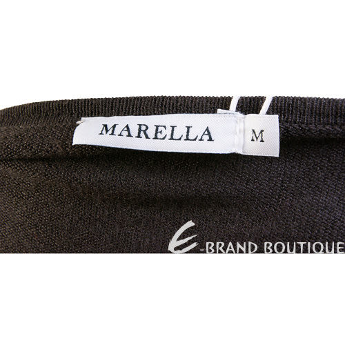 MARELLA 咖啡色不規則設計罩衫 1230401-07