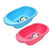 【佳兒園婦幼館】Puku 藍色企鵝 卡哇伊浴盆(藍/粉)