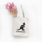 【現貨秒寄】 KANGOL 袋鼠 大LOGO 帆布包 托特包 肩背 米白 6025301601