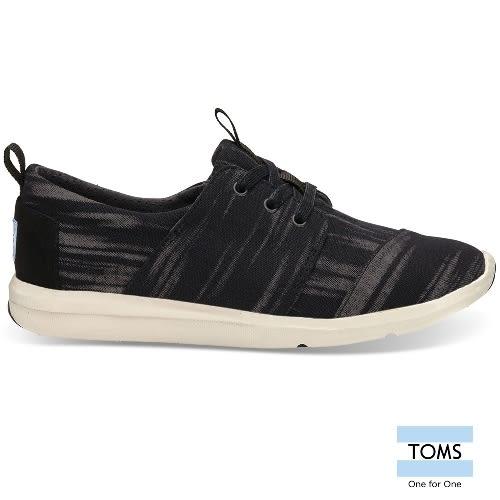 TOMS 刷白編織休閒鞋-女款(10008879 BLACK)