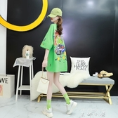 2020夏季新款寬鬆韓版卡通短袖t恤女洋氣ins潮網紅超火慵懶風上衣 米娜小鋪