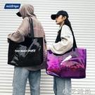 透明大容量包包女時尚PVC果凍包ins單肩斜跨手提袋潮流防水沙灘包 小艾新品