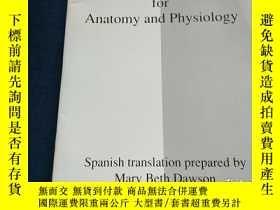 二手書博民逛書店English Spanish罕見Glossary for Anatomy and PhysiologyY22