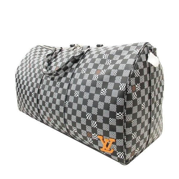 LOUIS VUITTON 路易威登 黑白棋盤格手提肩背旅行袋 Keepall Bandouliere 50 BRAND OFF