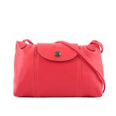 【LONGCHAMP】LE PLIAGE CUIR小羊皮斜背包(紅吻色) L1061 757 P56