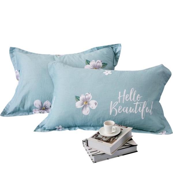 純棉枕套全棉枕頭套一對裝枕芯套加厚枕頭皮枕大號家用48x74cm 設計師生活百貨