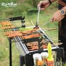 燒烤架 歐文的派對戶外燒烤架 BBQ燒烤爐 5人以上家用全套木炭烤肉工具【快速出貨】