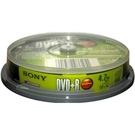 SONY DVD+R 16x 10入布丁桶