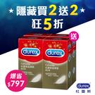 【買2送2狂5折】Durex 杜蕾斯 超薄裝 保險套12入*2盒送超薄裝12入*2盒