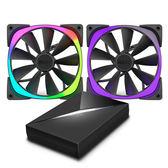 NZXT Aer RGB 風扇 - 140 mm (兩顆) & Hue+ 產品編號:NZ-Aer140-HUEP
