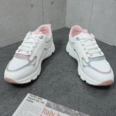 X-INGCHI 女款白粉色復古休閒鞋-NO.X0113
