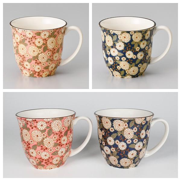 日本陶瓷 菊之小路 馬克杯 粉/藍 兩色