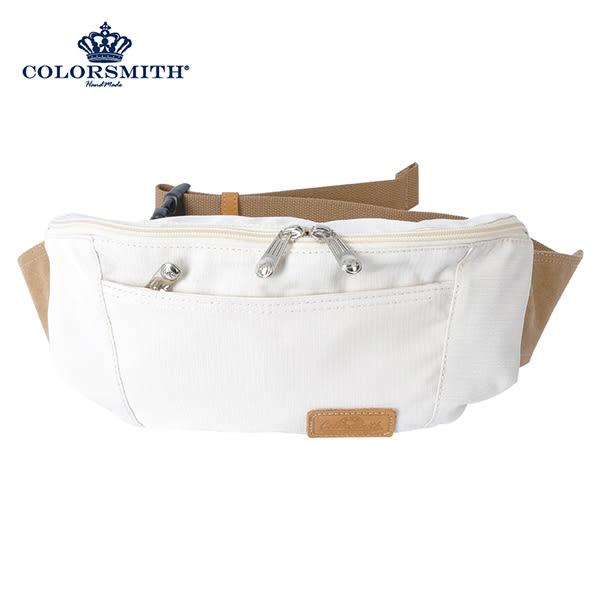 【COLORSMITH】SP8・極簡造型腰包-白色・SP8-1334-WH