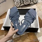 拖鞋女外穿韓版百搭夏一字拖沙灘度假學生防滑羅馬鞋【貼身日記】