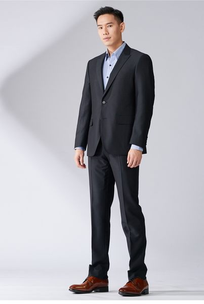 極品西服 經典優雅修身西裝外套_黑色(AW731-3G)
