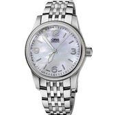 ORIS 豪利時 Big Crown 經典大三針真鑽手錶-珍珠貝/38mm 0173376494066-0781976