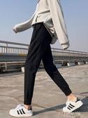 鉛筆褲運動褲女寬鬆束腳春秋顯瘦百搭新九分衛褲小個子灰色休閒褲子 芊墨左岸
