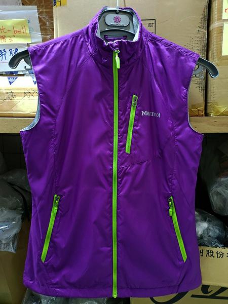 Marmot  W-Stride 防風薄保暖背心 ( 56830-6080 紫色 ) 女