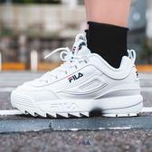 FILA DISRUPTOR 2 復古 白深藍 經典LOGO 鋸齒鞋 韓國 限定 款新上市