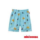 MIKI HOUSE 日本製 普奇熊帆船涼爽居家褲(藍)
