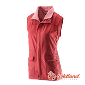 [Wildland] (女) 防風時尚保暖背心 橘紅 (0A22703-13)