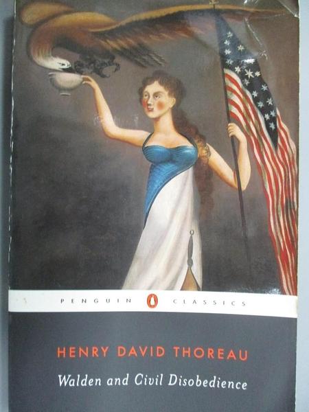 【書寶二手書T1/原文小說_OPV】Walden and Civil Disobedience_Thoreau, Henry David