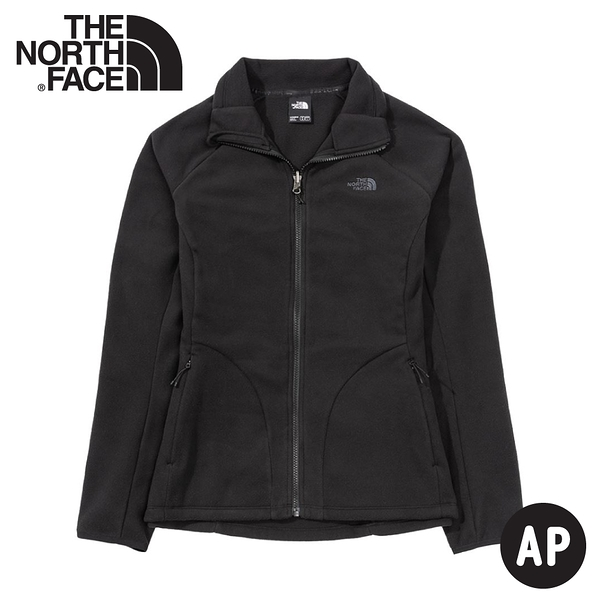 【The North Face 女 FASTER HIKE TKA 200 保暖外套(可套式)《黑》】4U5I/透氣刷毛外套