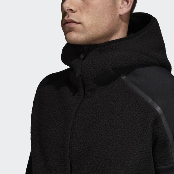 Adidas Z.N.E.男裝 外套 連帽 休閒 慢跑 保暖 透氣 黑【運動世界】DM7756