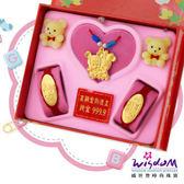 999.9黃金彌月音樂禮盒 聰明鼠三件組2分-GP00021-23-FEX