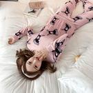 ★依咨戀小舖★睡衣女秋套裝法蘭絨長袖兩件套韓版寬鬆卡通冬季家居服珊瑚絨可愛
