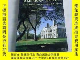 二手書博民逛書店AMERICAN罕見HOUSES 美國的房子 精裝Y23537