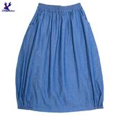 【春夏新品】American Bluedeer - 牛仔抽皺長裙(特價)春夏新款