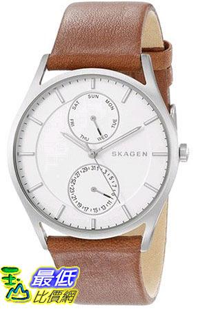 [105美國直購] Skagen Holst Men s Multifunction Leather Watch SKW6176