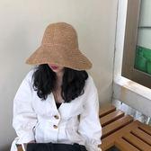 夏韓版遮陽帽沙灘帽可折疊可凹造型出游太陽大檐帽草帽涼帽 QQ1481『樂愛居家館』