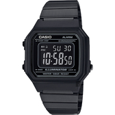 CASIO 卡西歐 復古文青大數字電子錶-黑 B650WB-1BDF / B650WB-1B