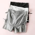 安全褲  蕾絲邊高腰防走光女夏外穿三分保險褲收腹提臀大碼打底短褲 此商品不接受退貨或退換