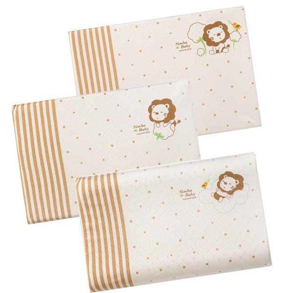 【奇買親子購物網】小獅王辛巴simba 有機棉乳膠舒眠枕枕套(S/M/L)