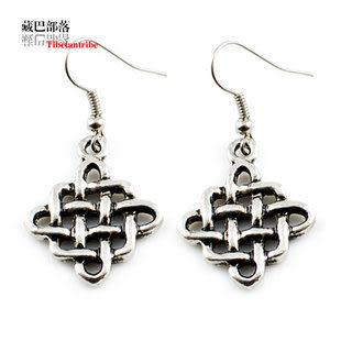 女款耳環 鏤空藏飾吉祥網雕花藏銀