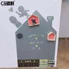 小房子磁性黑板牆貼兒童房塗鴉牆膜家用環保...