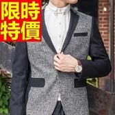 西裝外套 男西服(單外套)-隨意英倫風新款氣質4色59t29【巴黎精品】